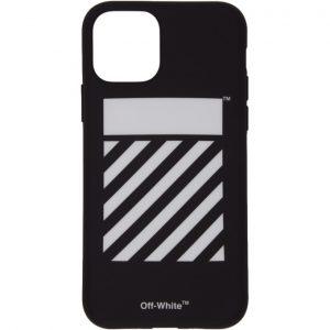Off-White SSENSE Exclusive Black and White Diagonal iPhone 11 Case