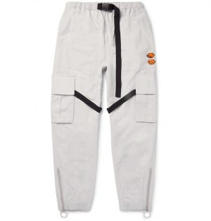 Off-White - Tapered Tech-Jersey Cargo Trousers - Men - Gray