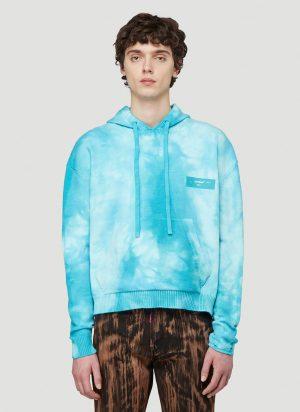 Off-White Tie-Dye Hooded Sweatshirt in Blue size S
