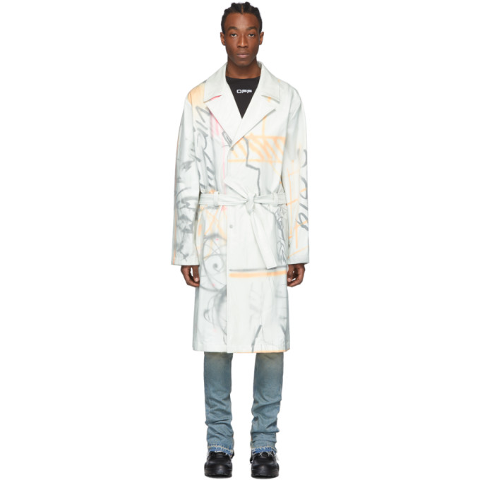 Off-White White Futura Edition Trench Coat