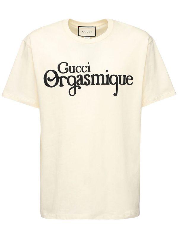 Orgasmique Print Cotton T-shirt
