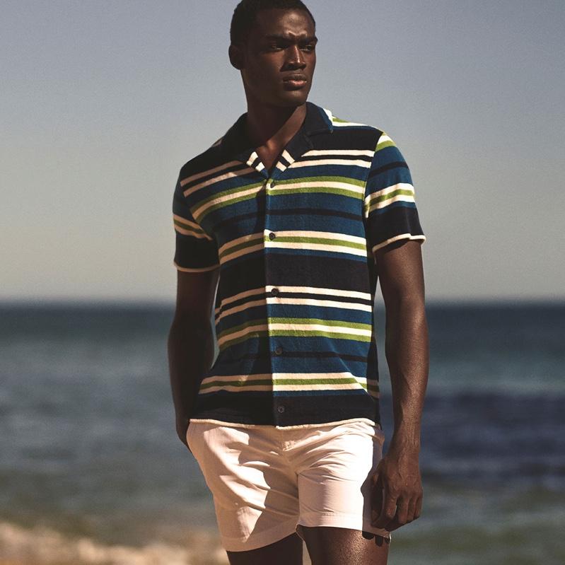 Davidson Obennebo appears in Orlebar Brown's spring-summer 2020 campaign.