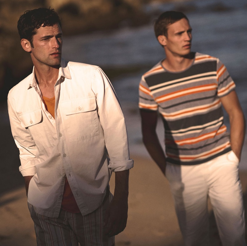 Sean O'Pry and Julian Schneyder come together for Orlebar Brown's spring-summer 2020 campaign.