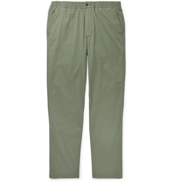 Polo Ralph Lauren - Tapered Stretch-Cotton Drawstring Trousers - Men - Green