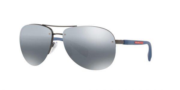 Prada Linea Rossa Man PS 56MS - Frame color: Gunmetal, Lens color: Grey-Black, Size 65-14/130