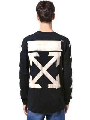 Print Tape Arrows Jersey Ls T-shirt