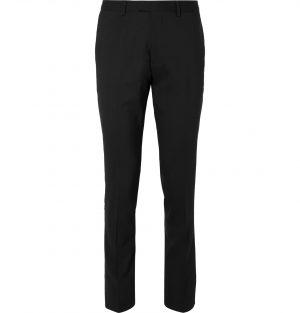 Sandro - Black Slim-Fit Wool-Blend Suit Trousers - Men - Black