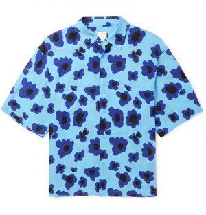 Sandro - Printed Woven Shirt - Men - Blue