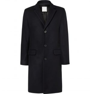 Sandro - Wool-Blend Overcoat - Men - Blue