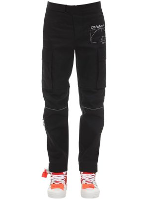 Skinny Cotton Gabardine Cargo Pants