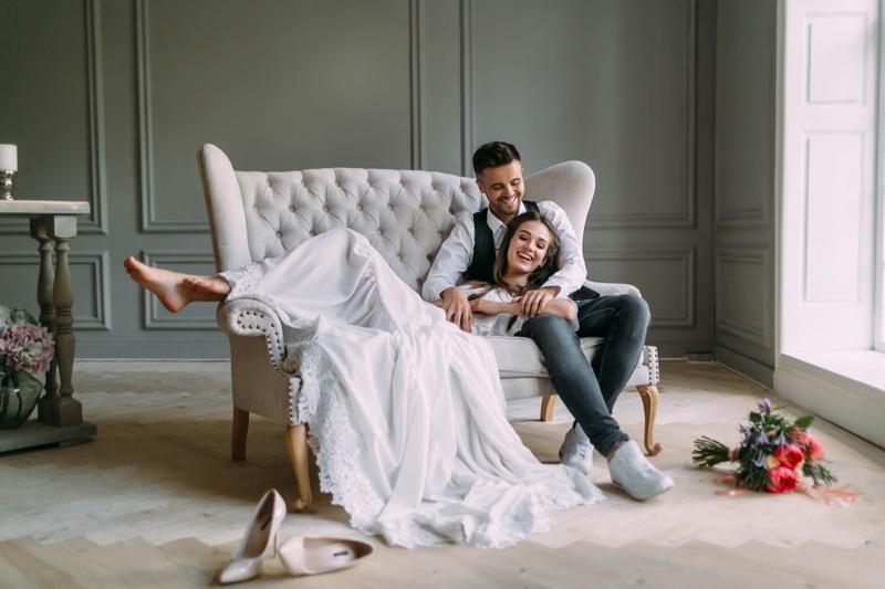Smiling Couple Wedding Theme