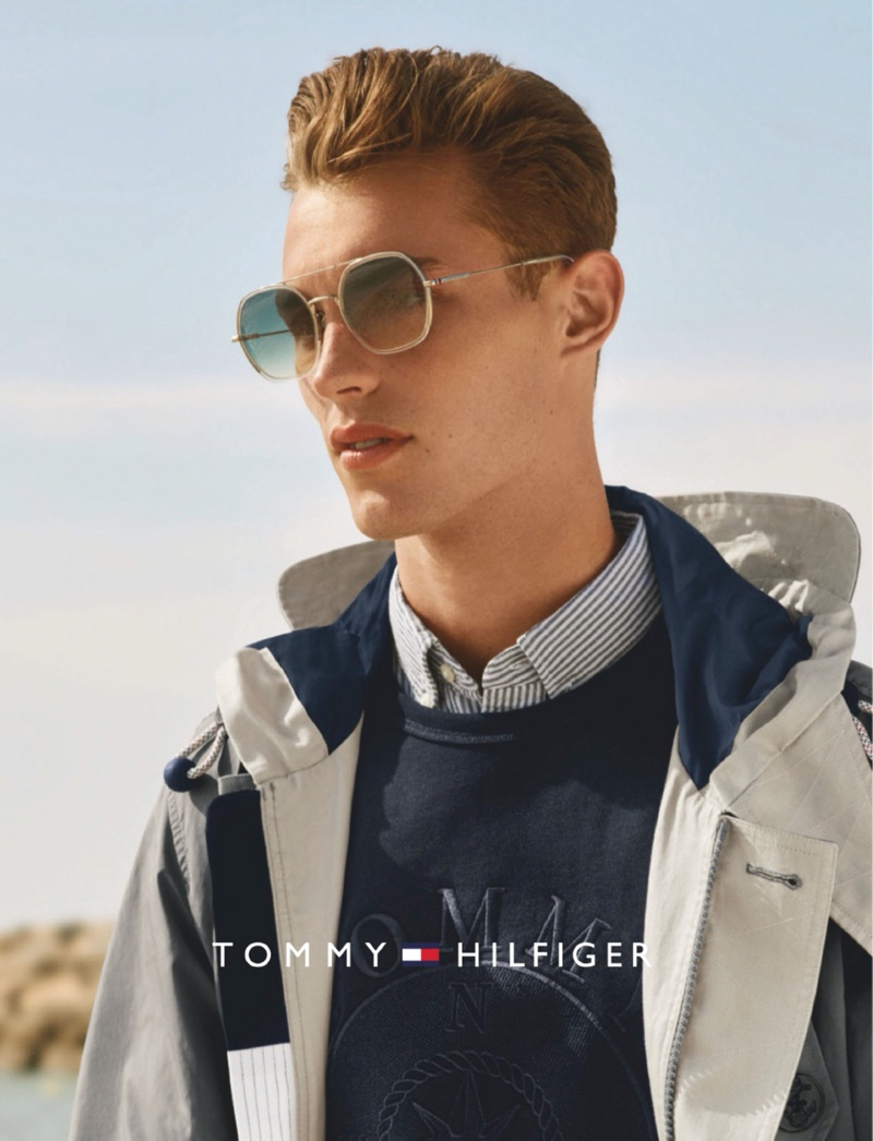 British model Kit Butler connects with Tommy Hilfiger for its spring-summer 2020 eyewear campaign.
