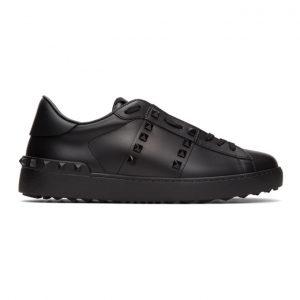 Valentino Black Valentino Garavani Rockstud Untitled Open Sneakers