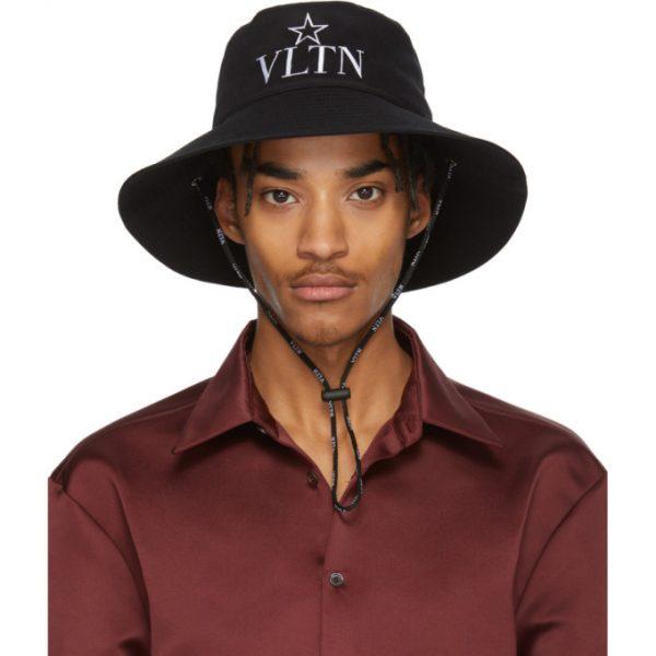 Valentino Black Valentino Garavani VLTN Star Bucket Hat