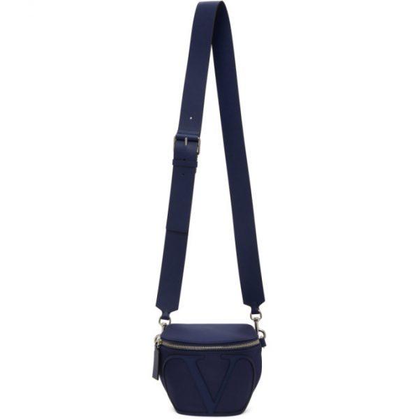 Valentino Navy Valentino Garavani VLogo Belt Bag