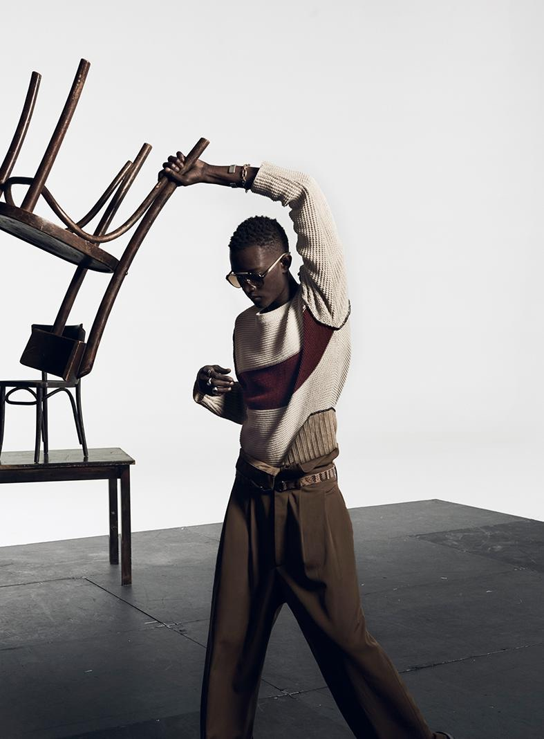 Oumar Diouf appears in Zara's spring-summer 2020 campaign.