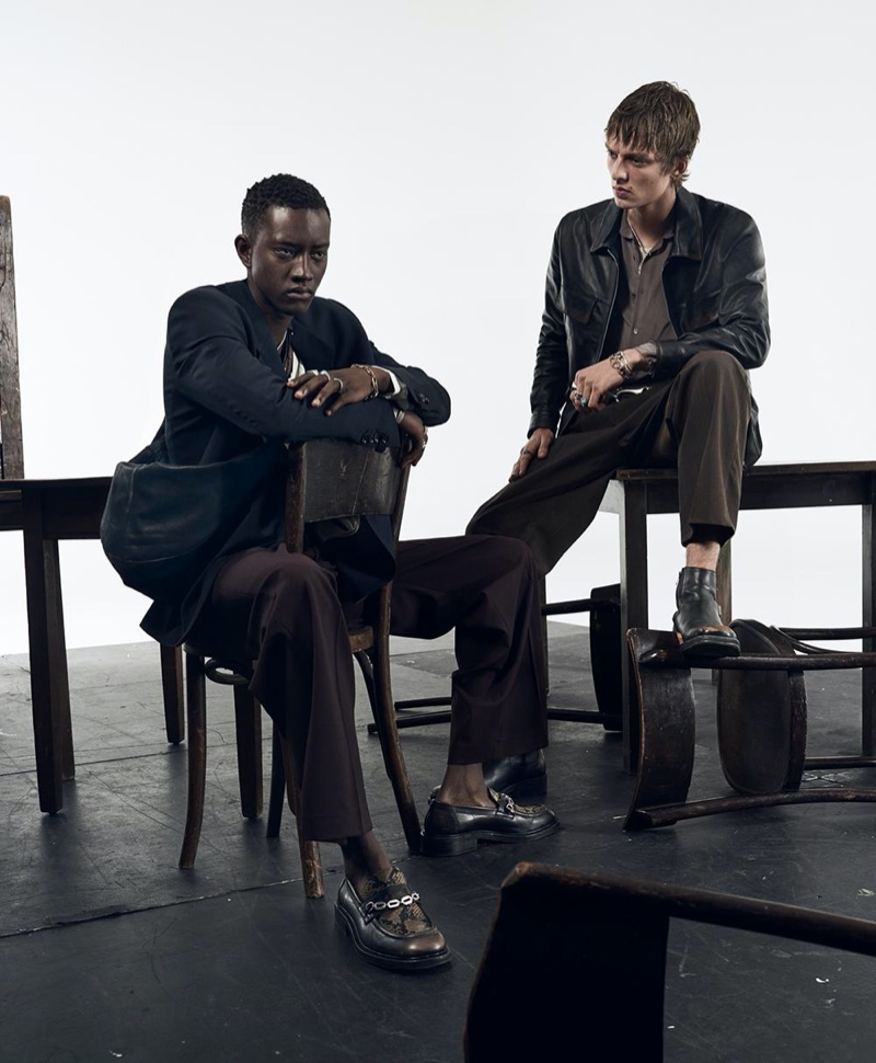 Craig McDean photographs Oumar Diouf and Leon Dame for Zara's spring-summer 2020 campaign.