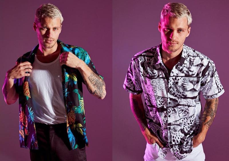 Fashion Nova Mens Printed Shirts