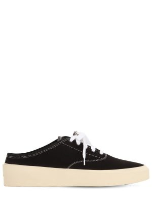 101 Backless Cotton Canvas Sneakers