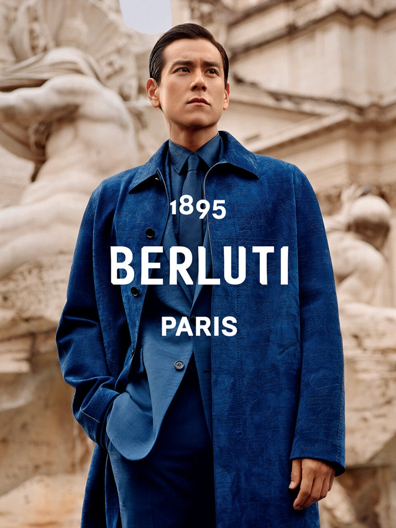 Eddie Peng fronts Berluti's summer 2020 campaign.