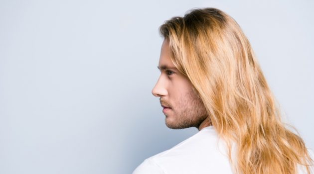 Blond Male Model Long Hair Profile