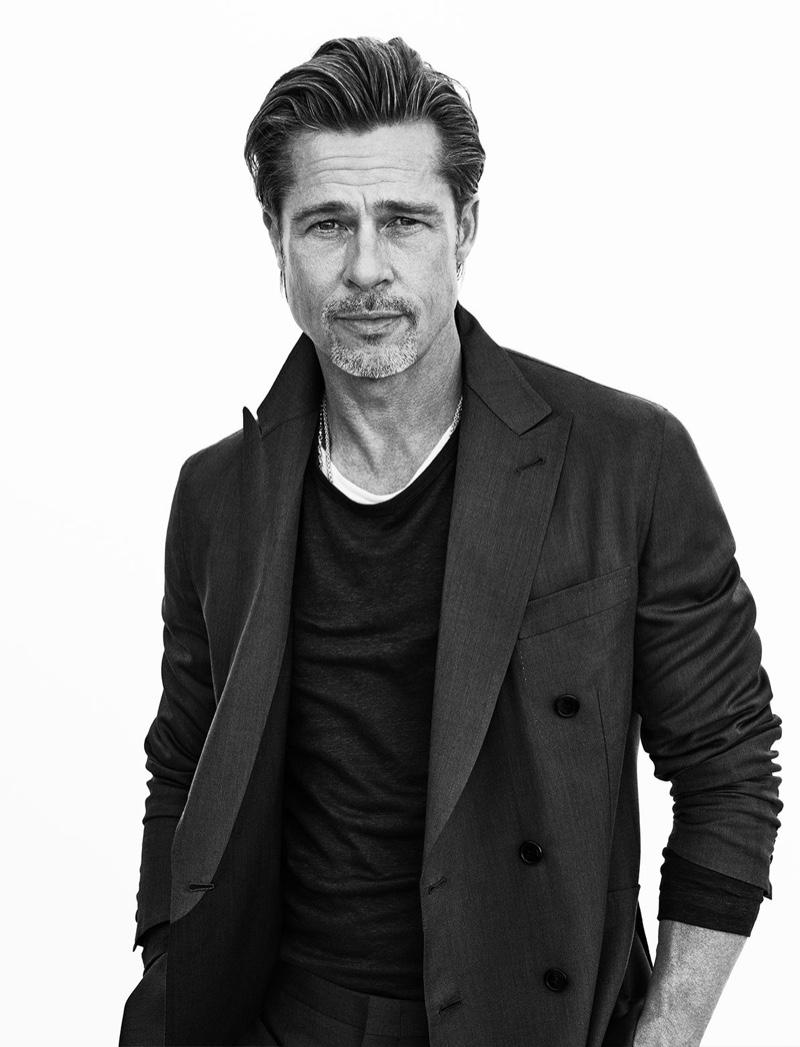 Brad Pitt Brioni Spring 2020 Campaign   The Fashionisto