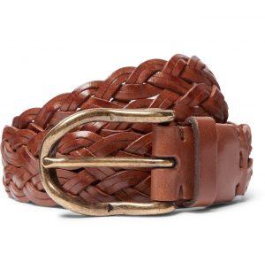 Brunello Cucinelli - 4cm Brown Woven Leather Belt - Men - Brown