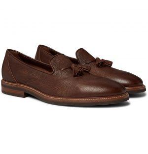 Brunello Cucinelli - Full-Grain Leather Tasselled Loafers - Men - Brown