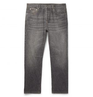 Brunello Cucinelli - Slim-Fit Selvedge Denim Jeans - Men - Gray