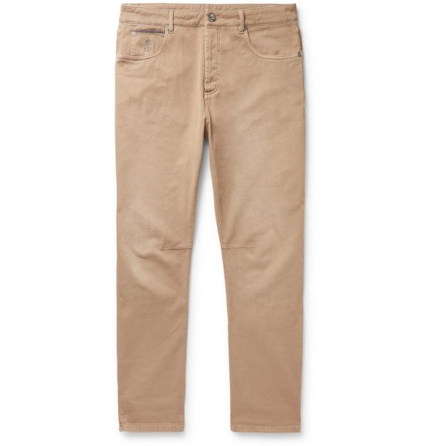 Brunello Cucinelli - Stretch-Denim Jeans - Men - Neutrals