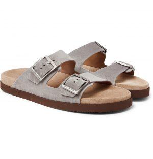 Brunello Cucinelli - Suede Sandals - Men - Gray
