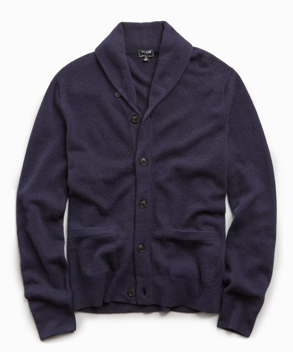 Cashmere Cardigan in Navy