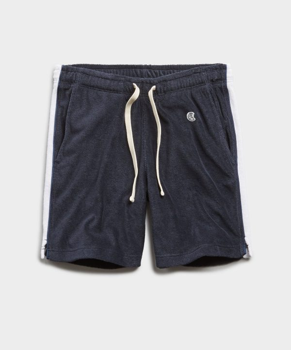 Champion Terry Side Stripe Short in Navy
