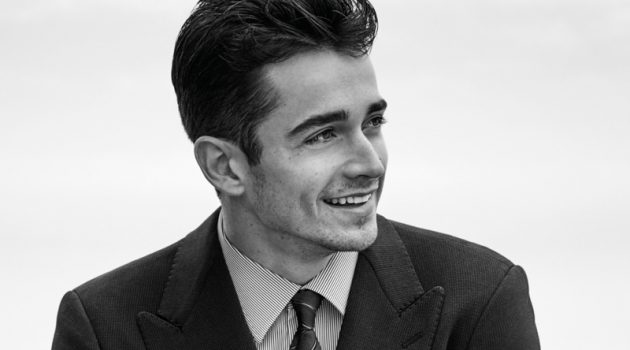 Charles Leclerc stars in Giorgio Armani Made to Measure's spring-summer 2020 campaign.