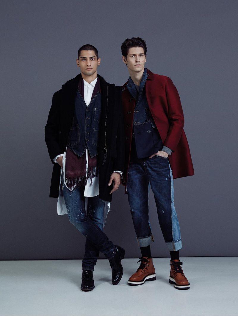 Justin & Jordan Rock Dsquared2 for L'Officiel Hommes Italia