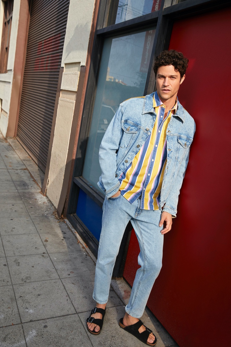 Doubling down on denim, Miles McMillan showcases casual summer style from Esprit.