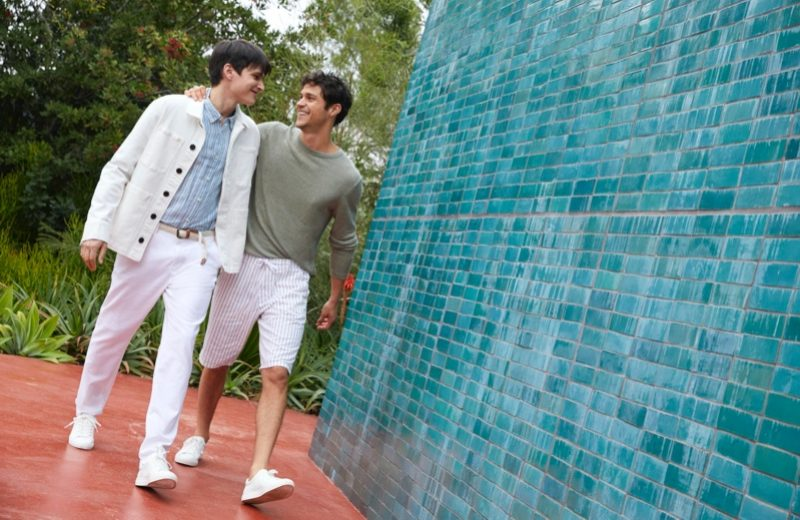 Miles & Simon Embrace Summer Style in Esprit