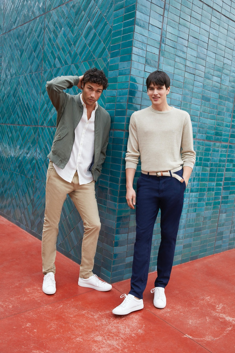 Embracing smart summer style, Miles McMillan and Simon Van Meervenne sports fashions from Esprit.