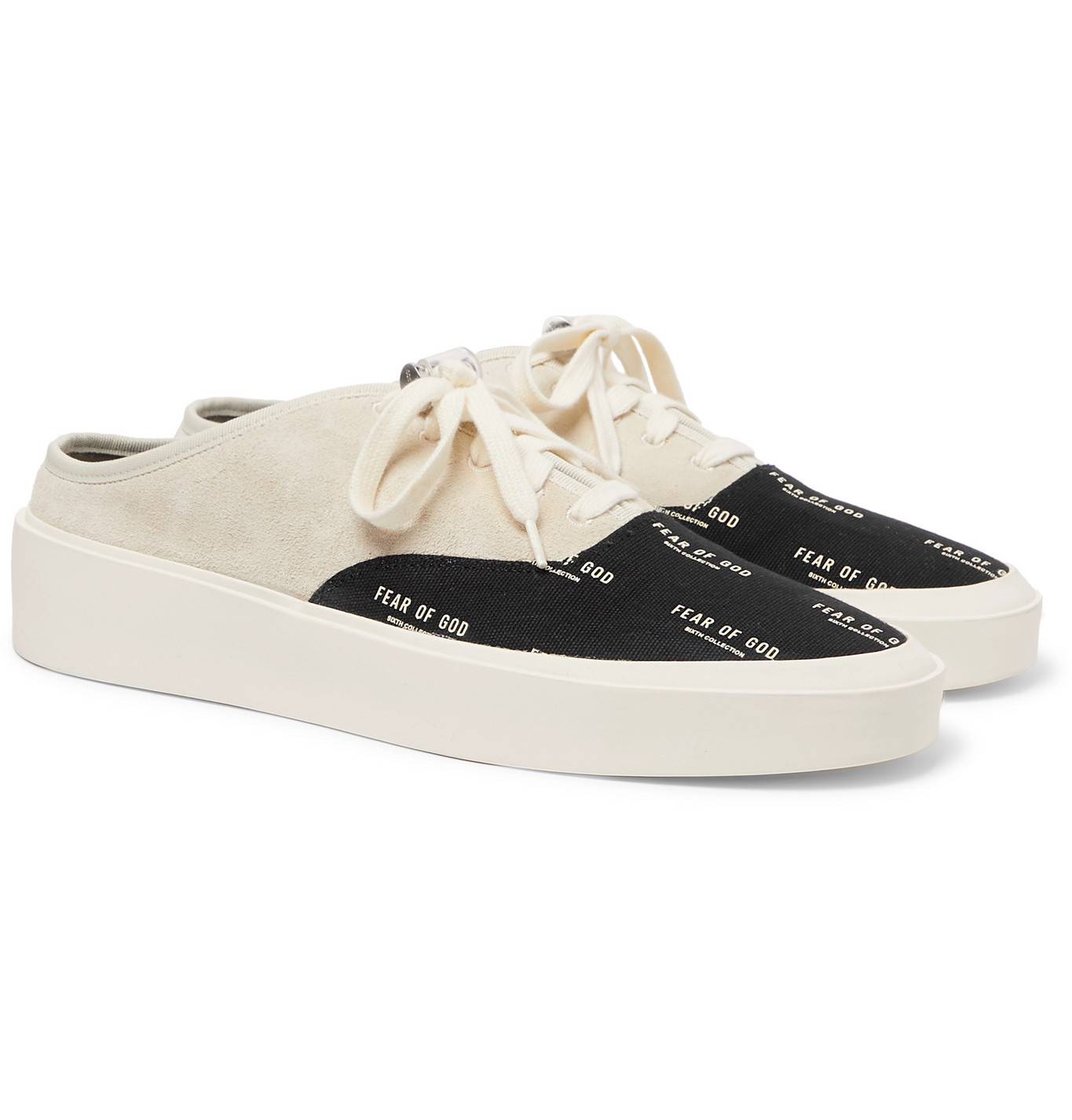 Fear of God - 101 Suede and Logo-Print
