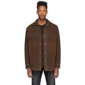 Fear of God Brown Canvas Shirt Jacket