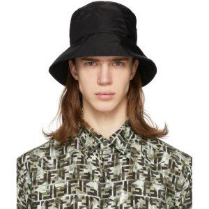 Fendi Black Mono Eye Bucket Hat