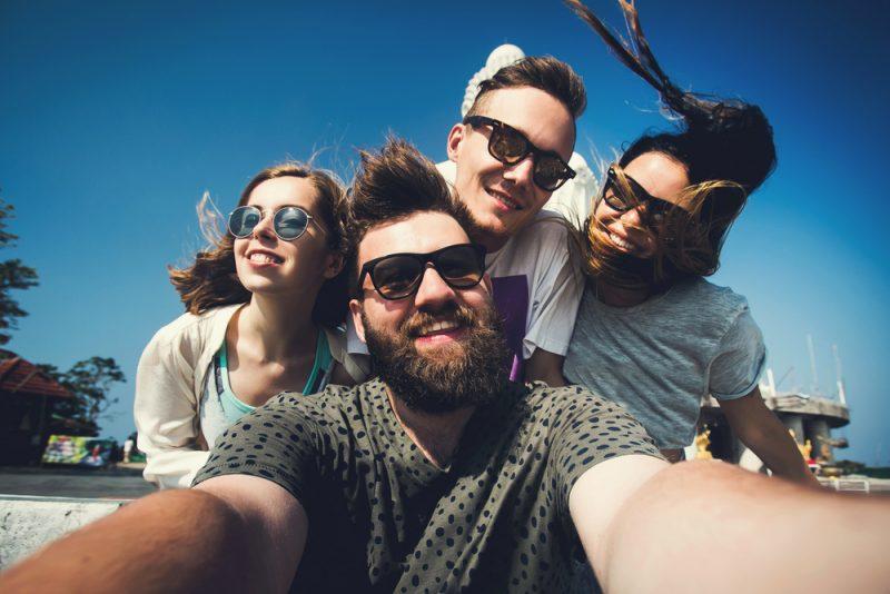 Friends Posing for Selfie
