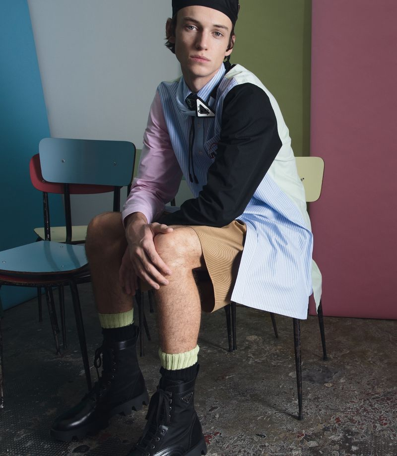 Jakob Sports Colorful Prada Style in Fashion for Men