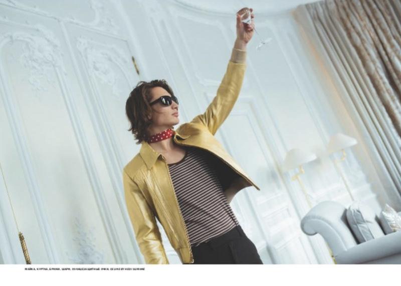 James Embraces His Inner Rock Star for L'Officiel Hommes Ukraine