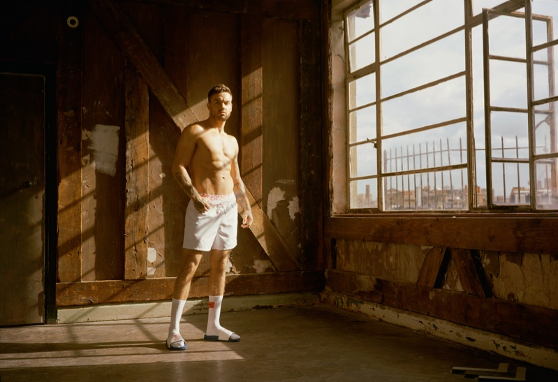 Posing in underwear, Liam Payne reunites with HUGO for a pre-fall 2020 capsule collection.