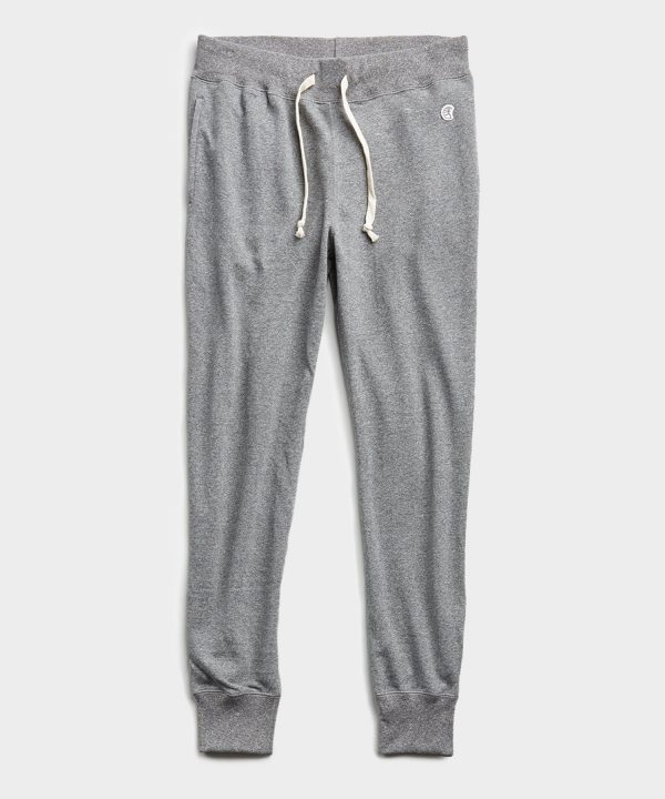 Lightweight Slim Jogger Sweatpant in Salt and Pepper