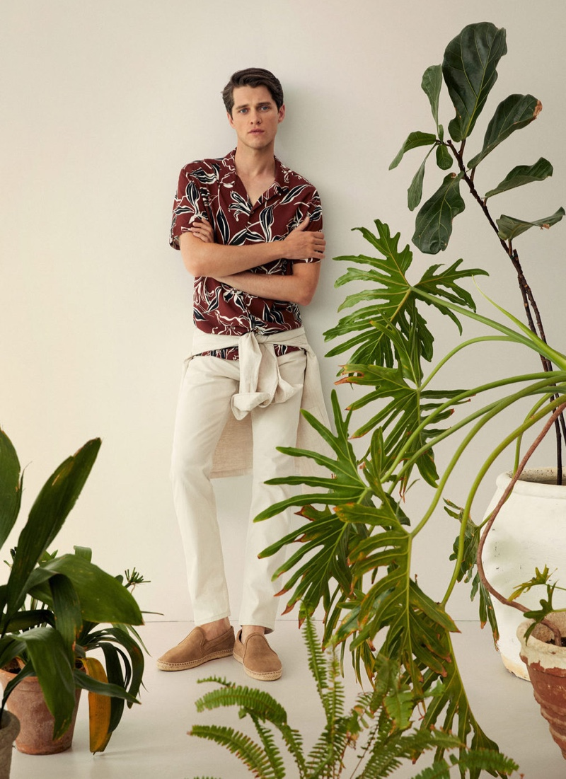 Free & Easy: Luke Dons Relaxed Style for Mango