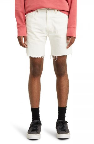 Men's Levi's 501 '93 Cutoff Denim Shorts, Size 38 - Ivory