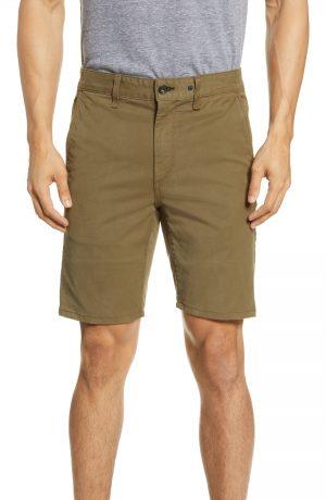 Men's Rag & Bone Classic Twill Chino Shorts, Size 38 - Green