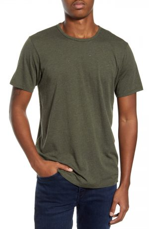 Men's Rag & Bone Neppy Crewneck T-Shirt, Size Small - Green